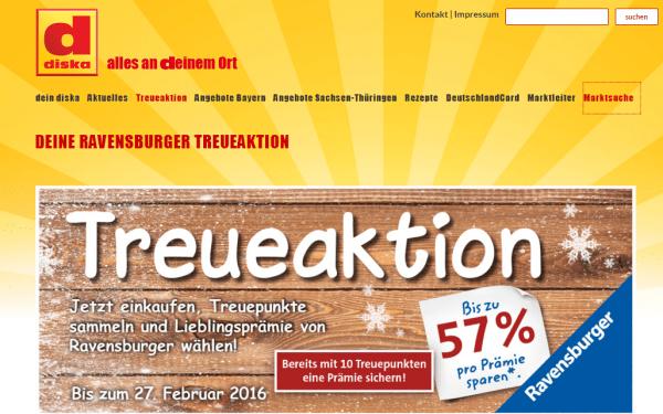 Ravensburger Treueaktion diska