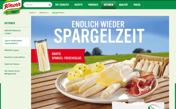 Spargelzeit Knorr