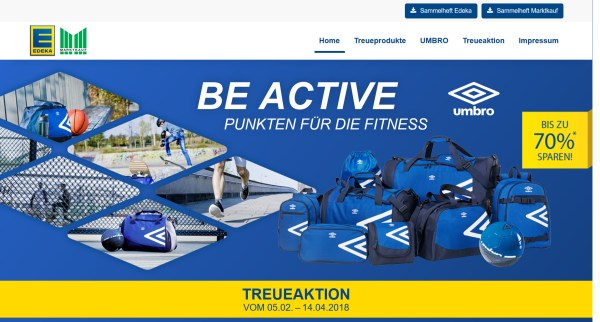 Treueaktion Edeka Umbro