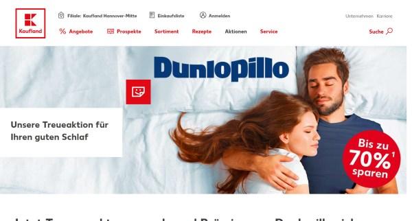 Kaufland Dunlopillo Treueaktion