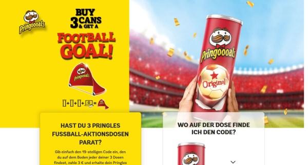 Pringles Codes Fußballtor