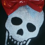 Skull with Red Bow
