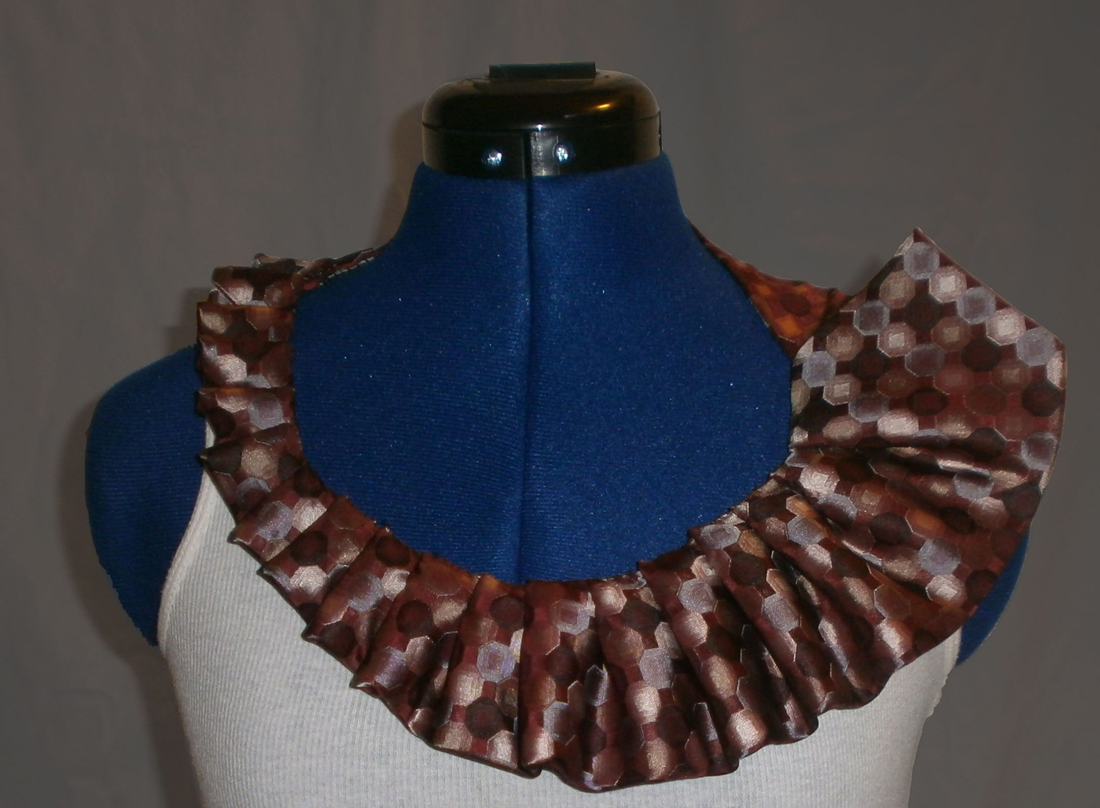 Pleated Tie Necklace