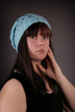 Blue Cable Hat 2