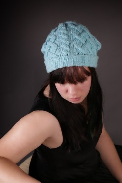 Blue Cable Hat