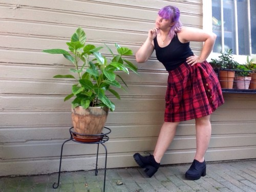 Plaid Skirt Side 2