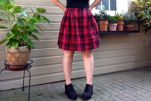 Plaid Skirt Front