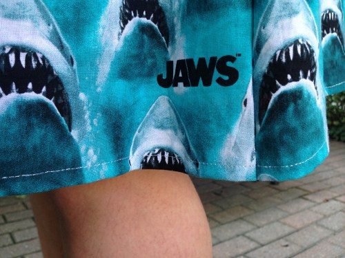 Jaws Skirt hem close up