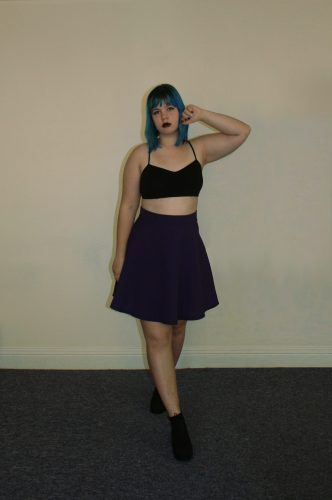 purple skirt front
