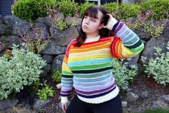 Scrappy Stripes Sweater Side