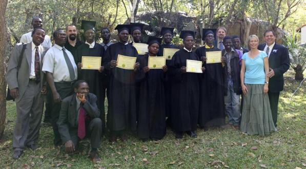 The grads with Mission staff and missionaries