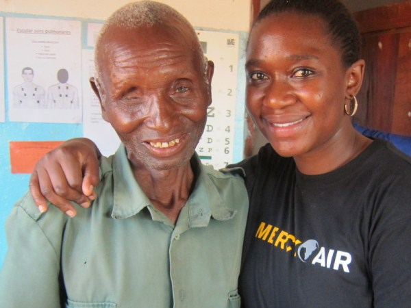 Baba Andrea with Jane the audiologist