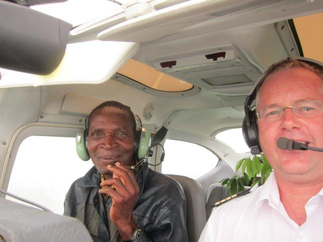 Andy and Pastor Ricardo taking off for Caia