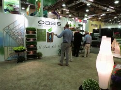 Oasis growing media booth