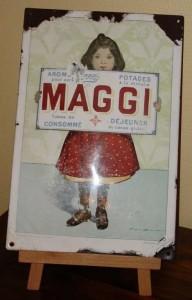 """MAGGI - Um 1895 - """"Das Maggi Mädchen"""", signiert Firmin Bouisset"""