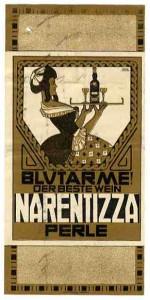 Narentizza Perle: Etikett um 1910