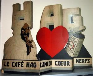 Kaffee HAG - Seltener Aufsteller um 1920