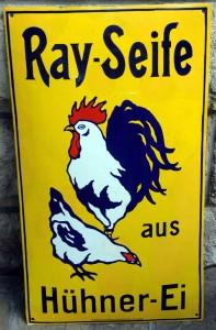 RAY Seife mit Hühnerei, um 1910