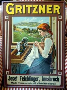 Gritzner Nähmaschinen, Jugendstil, um 1910