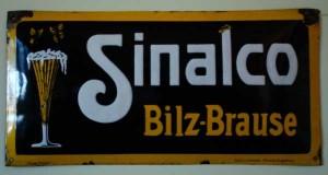 SINALCO - Bilz Brause - Emailleschild um 1905-10