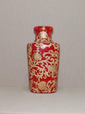 Famille Rose Vase - Chinesische Antiquitäten