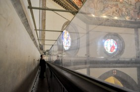 Passageway underneath the dome