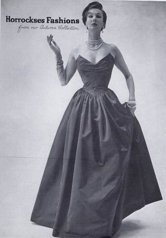 21 Reasons Why You Should Wear the Fashion of the 1940s 40s vintage clothing ad of taffeta dress