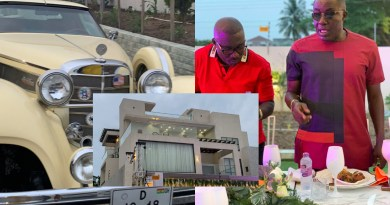Video: Despite, Ofori Sarpong storms millionaire friend's house party in expensive cars