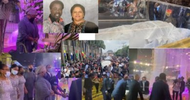 Video: TB Joshua's wife, children, church members cry uncontrollably as he was laid-in-state for burial