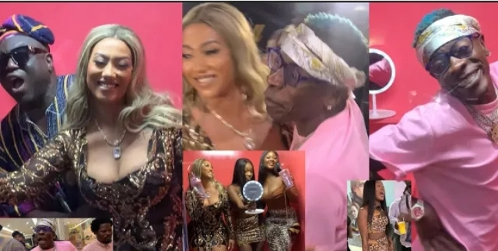 Shatta Wale steals show at Hajia 4real's EP launch