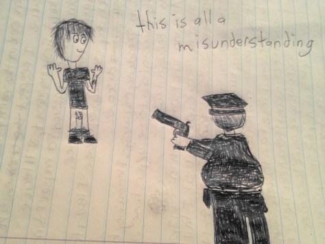 """This is All a Misunderstanding."" 12/3/12. Pen. 8x10""."