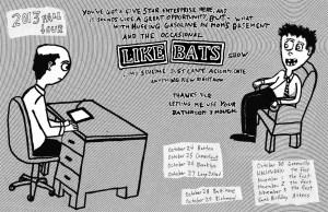 Like Bats 2013 fall tour poster