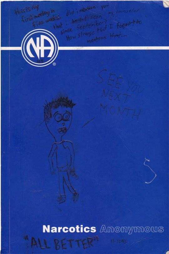 narcotics anonymous NA blue book text cartoon