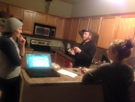 I took this photo of Noelle, Wallis, and Chris in the midst of a super important conversation about blink-182.