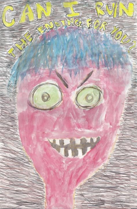 """Spoiler Alert."" 11/3/12. Watercolor and colored pencil. 12x18""."