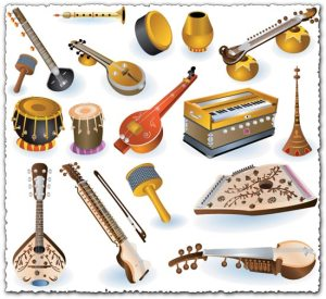 indian-music-instruments-vectors