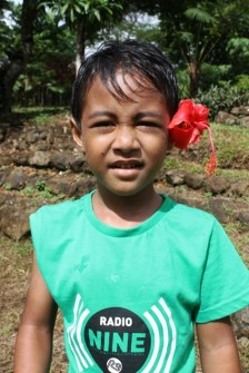Handsome Filia Jr with his flower power!