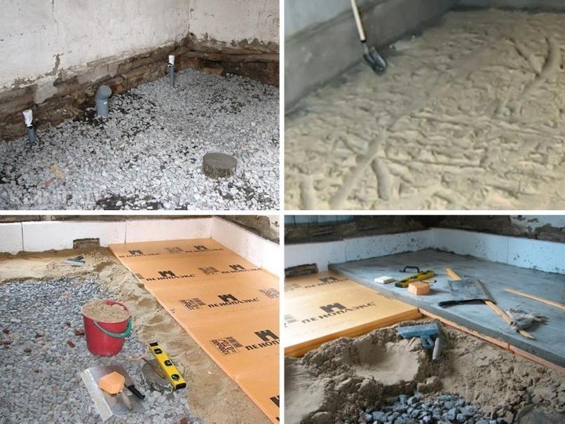 как заливать бетонный пол по грунту