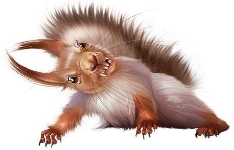 Ekstremna ženska vjeverica