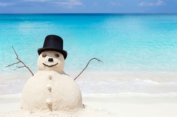 beach-snowman