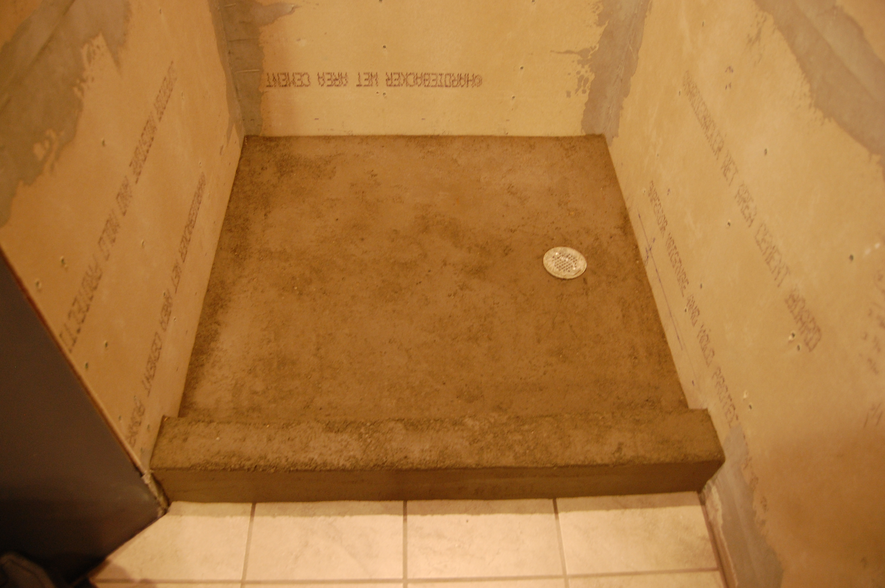 Shower Pan Secondary Mortar Bed Dry Pack And Sealing