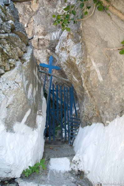 The gate to the cave area