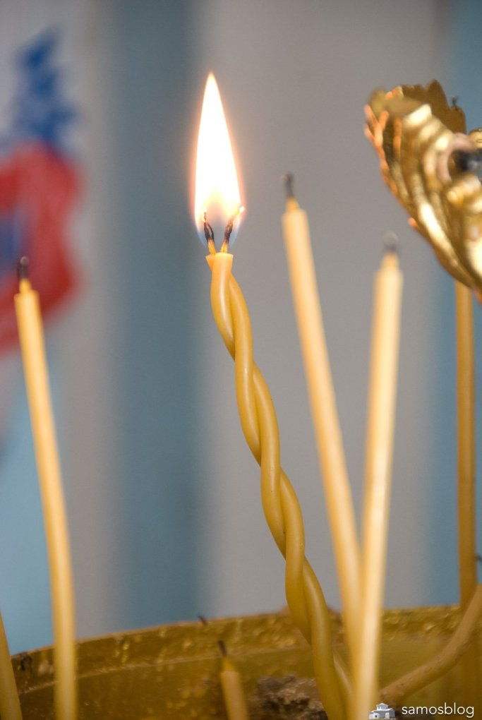 Light a candle - and remender to leave some money in the collect