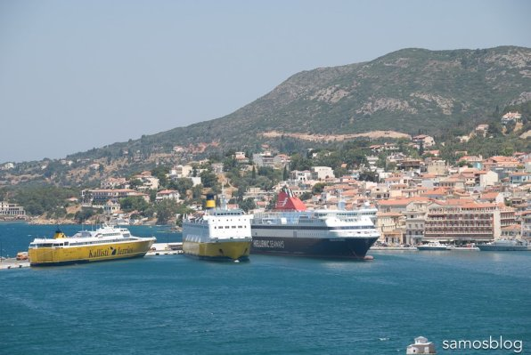 Ferry rendezvous in Samos