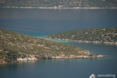 The strait between Kasonisi and Samos