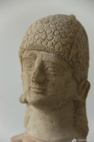Head of figurine from Samos Museum