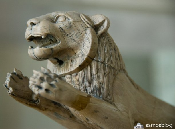 Ivory lion from Samos museum