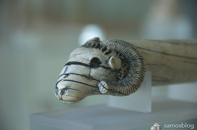 Ivory ram head from Samos museum