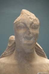 The head of the kouros from Samos museum