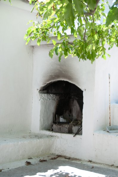 Fireplace in the court
